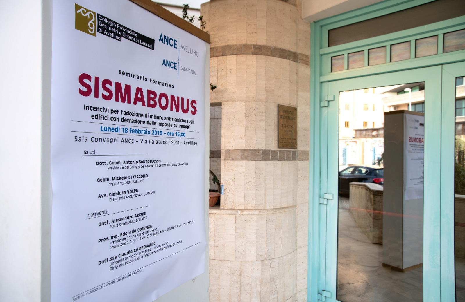 Sismabonus – 18 febbraio 2019